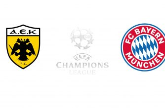 Aek Athens vs Bayern Munich Champions League