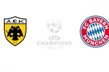 Aek Athens vs Bayern Munich Champions League